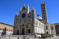SIENA, ITALIË - JULI 05, 2017: Siena Cathedral Santa Maria Assunt royalty-vrije stock foto