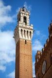 Siena, Italia Torre del Mangia Fotografie Stock