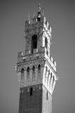 Siena, Italia Torre del Mangia Fotografia Stock