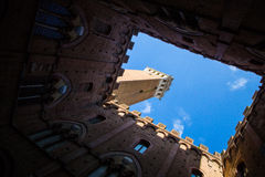 Siena, Italia Torre del Mangia Fotografie Stock Libere da Diritti