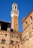Siena, Italia, torre di Mangia Fotografia Stock