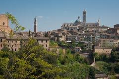 Siena, Italien. Stockfotografie