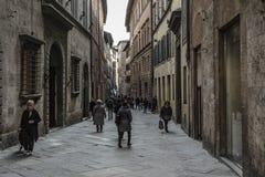 SIENA, ITALIEN AM 10. MÄRZ 2016: Alte mittelalterliche Stadt von Italien Stockfoto