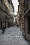 SIENA, ITALIEN AM 10. MÄRZ 2016: Alte mittelalterliche Stadt von Italien Stockfotos