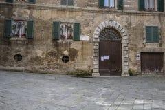 SIENA, ITALIEN AM 10. MÄRZ 2016: Alte mittelalterliche Stadt von Italien Lizenzfreie Stockfotos