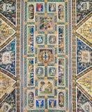 SIENA, ITALIEN, MÄRZ - 20, 2010: Fresko von der Kathedrale Santa Maria Assunta - die Wölbung von Piccolomini-Bibliothek 1459 Lizenzfreies Stockbild