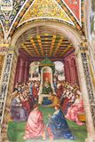 Painting in Piccolomini Library in Siena Cathedral Duomo di Sie Royalty Free Stock Image