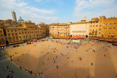 Siena, Italy. Siena, aeral view from the Tower of Piazza del Campo - Italy Stock Image