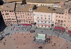 Siena, Italy. Campo Square top view Stock Photography