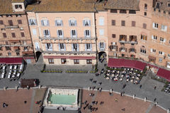 Siena, Italy. Campo Square top view Royalty Free Stock Images