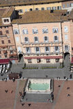 Siena, Italy. Campo Square top view Royalty Free Stock Image