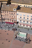 Siena, Italy. Campo Square top view Stock Image