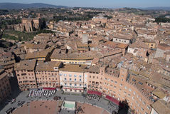 Siena, Italy. Campo Square top view Royalty Free Stock Photo