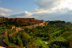 Siena,Italy Countryside View from above. Royalty Free Stock Image