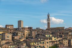 Siena. ITALY - OCTOBER 27, 2018: Scenery of , a beautiful medieval town in Tuscany, Italy royalty free stock image