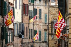Siena contrade flags Stock Photography