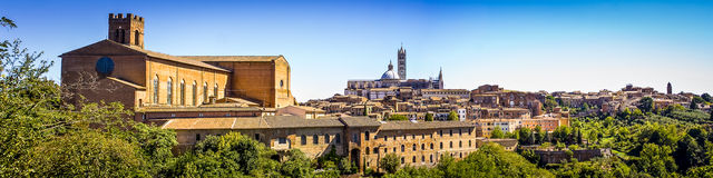 Siena, Italy. One of the famous hill towns of Italy Royalty Free Stock Images