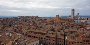 Siena Italy Overview Stock Images