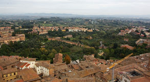 Siena Italy Overview Royalty Free Stock Photography