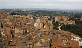 Siena Italy Overview Royalty Free Stock Photos