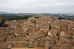 Siena Italy Overview Royalty Free Stock Image