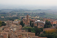 Siena Italy Overview Stock Photography