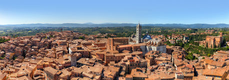 Siena, Italy panorama. Siena Cathedral, Duomo di Siena. Tuscany region Royalty Free Stock Photography