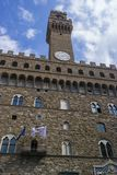 SIENA, ITALY - SEPTEMBER 7, 2016. Square Piazza del Campo with m stock photo