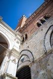 Siena, Italy. Torre del Mangia Stock Photo