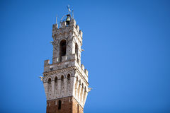 Siena, Italy. Torre del Mangia Royalty Free Stock Photography