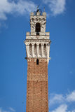 Siena, Italy. Torre del Mangia. Famous Torre del Mangia in Siena, Italy Stock Images