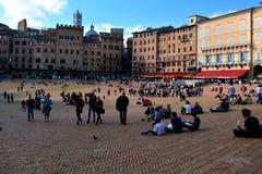 Siena Italys Il Campo-Quadrat Lizenzfreie Stockfotografie
