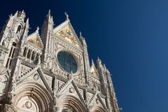 Siena, January 2017: Medieval church royalty free stock photo
