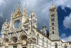 Siena katedra dedykująca wniebowzięcie Mary Zdjęcie Royalty Free
