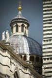 Siena kathedraalkoepel in zonneschijn in Toscanië Royalty-vrije Stock Fotografie
