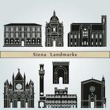 Siena Landmarks Royalty Free Stock Photo