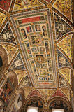 Siena library Piccolomini top painting Stock Photos