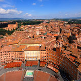 Siena, Luftaufnahme stockbilder