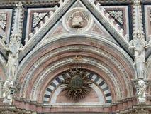 Siena - marble Duomo portal. Royalty Free Stock Photo