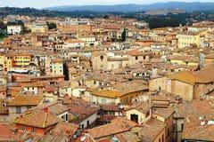 Siena - medeltida stad av Italien fotografering för bildbyråer