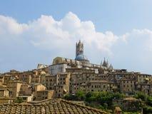 Siena mening met Duomo. Siena, Italië Stock Foto