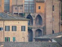 Siena, mening van het stadscentrum Royalty-vrije Stock Afbeeldingen