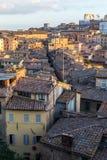 Siena meningen van de middag de panoramische stad Royalty-vrije Stock Afbeeldingen
