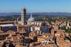 Siena meningen van de ochtend de panoramische stad Stock Fotografie