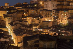 Siena miasta noc zdjęcie royalty free