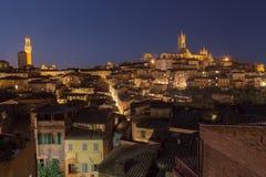 Siena miasta noc Obraz Royalty Free