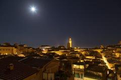 Siena miasta noc Zdjęcia Royalty Free