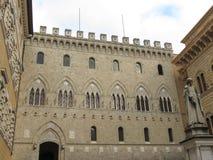 Siena, Monte dei Paschi bank Royalty Free Stock Photography