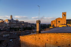 Siena morning panoramic city views Royalty Free Stock Image