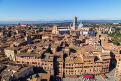 Siena morning panoramic city views Stock Image